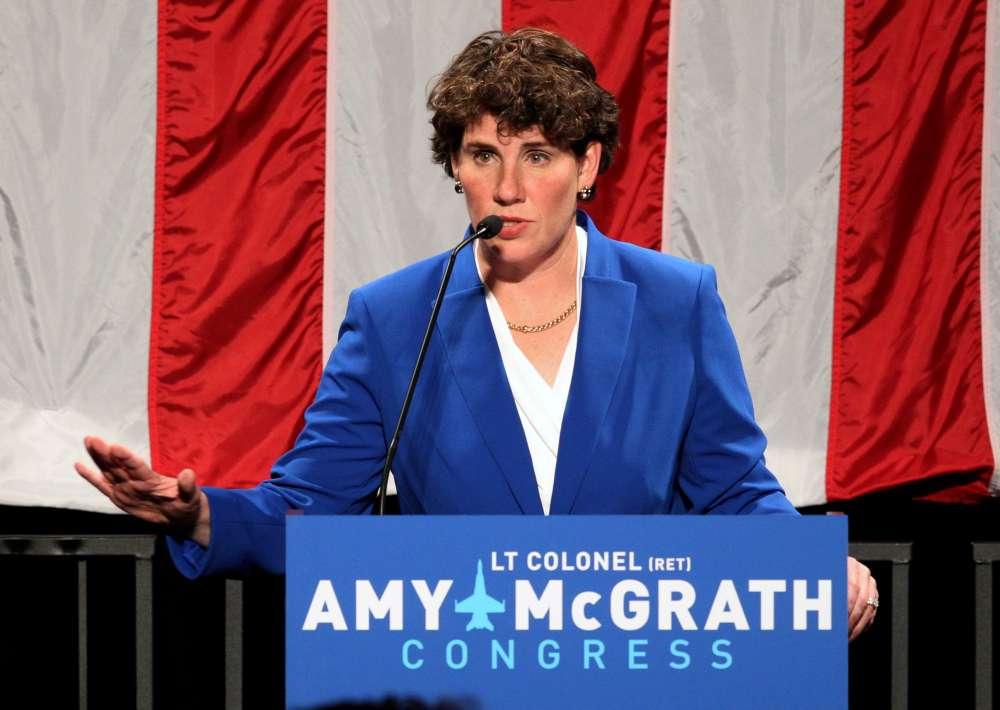 Ex-combat pilot Amy McGrath challenges Republican McConnell for U.S. Senate