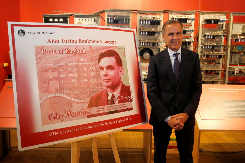 Bank of England picks World War Two code-breaker Turing for banknotes
