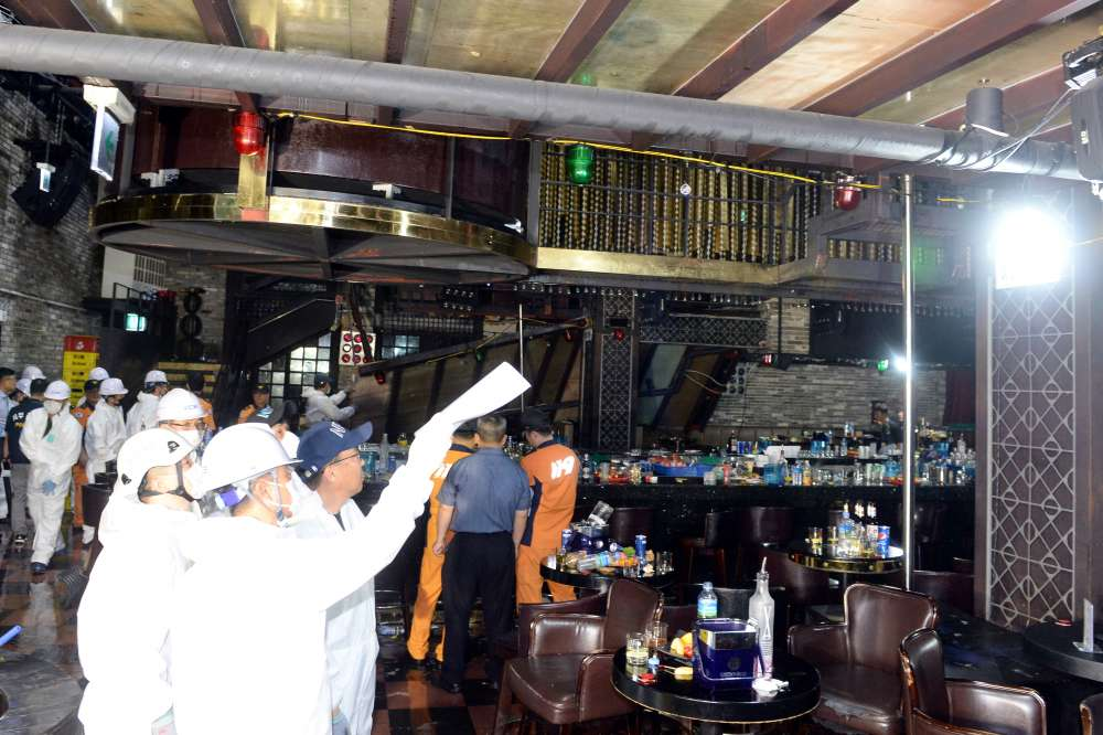 Club floor collapses in S.Korea as athletes dance; 2 people dead