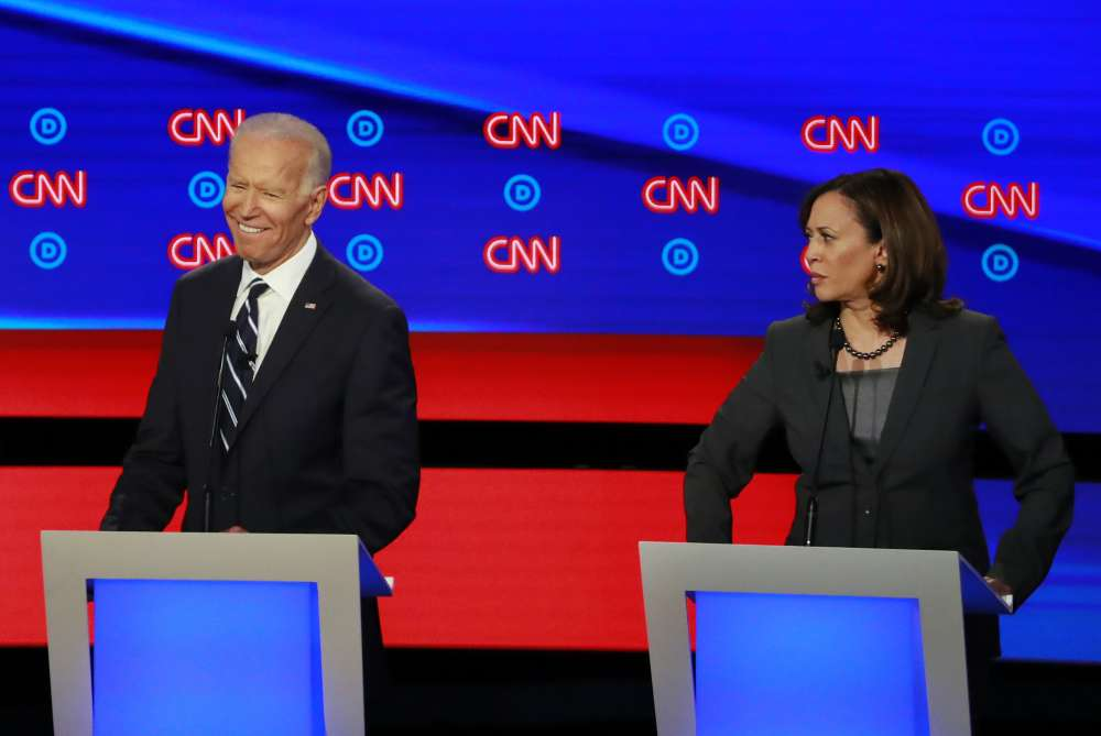 Biden and Harris do battle