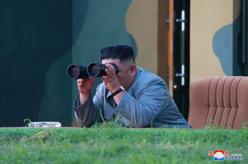 N.Korea's two short-range missiles in show of force