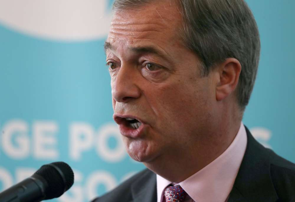 Brexit Party's Farage says will not challenge Conservatives in 317 seats
