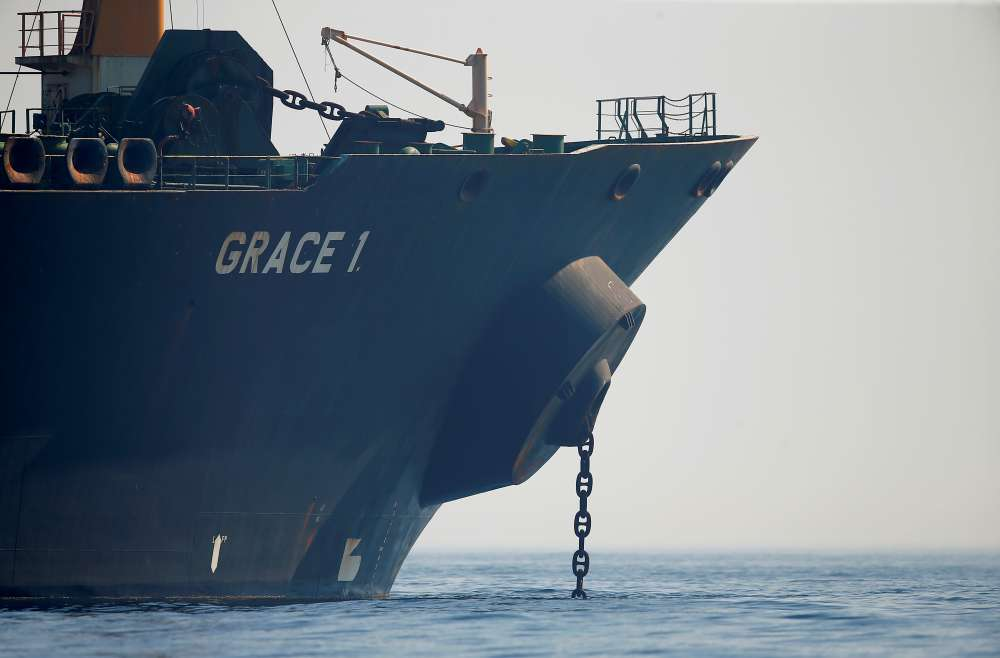 Iranian tanker caught in a standoff with the West heads to Greece