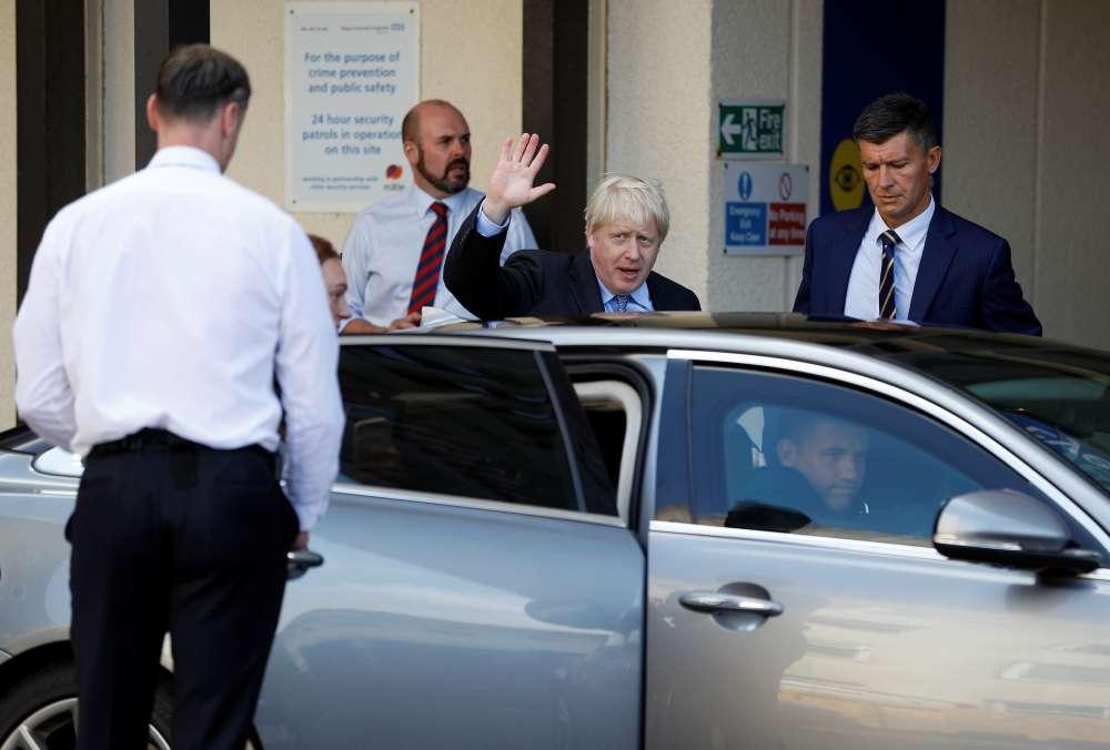 Britain's Johnson opening Brexit bid: rip out the Irish border backstop