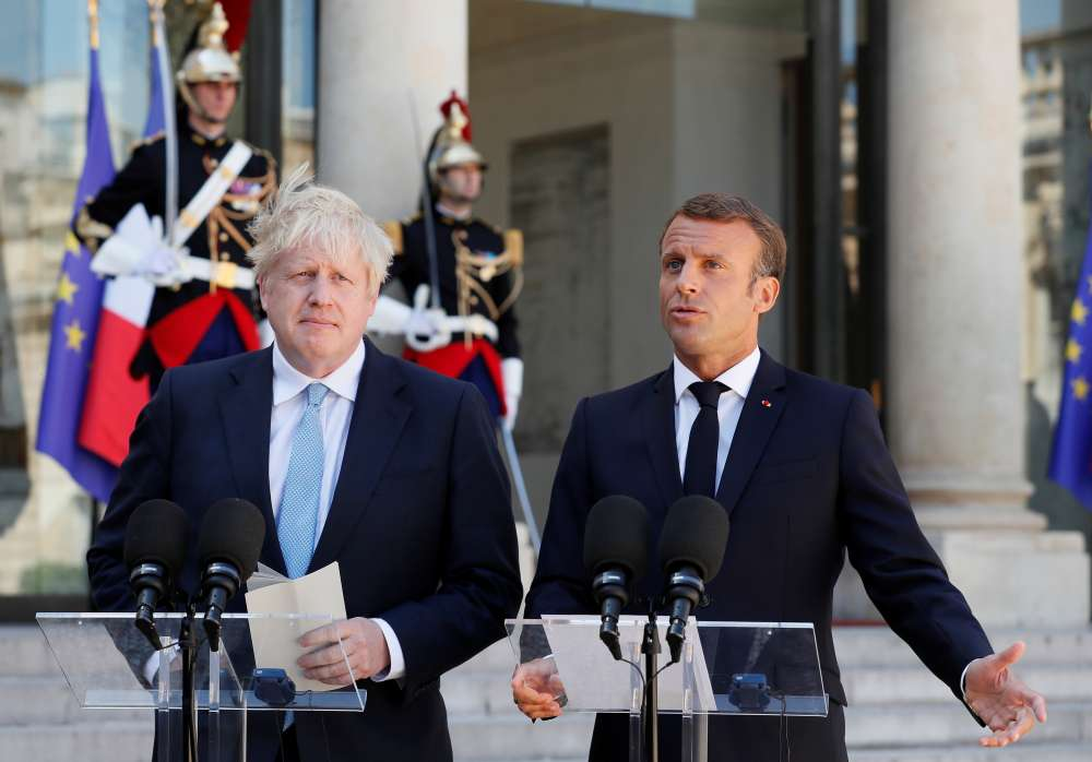 France's Macron tells Johnson: not enough time for a new Brexit deal