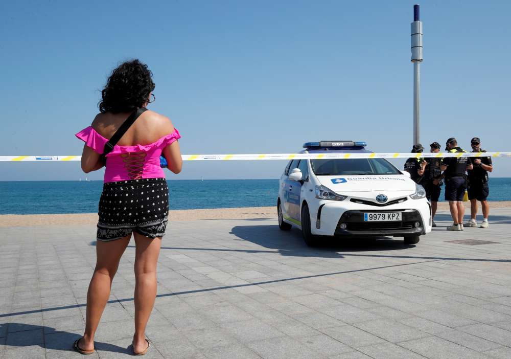 Beach in Barcelona evacuated after explosive device found in water