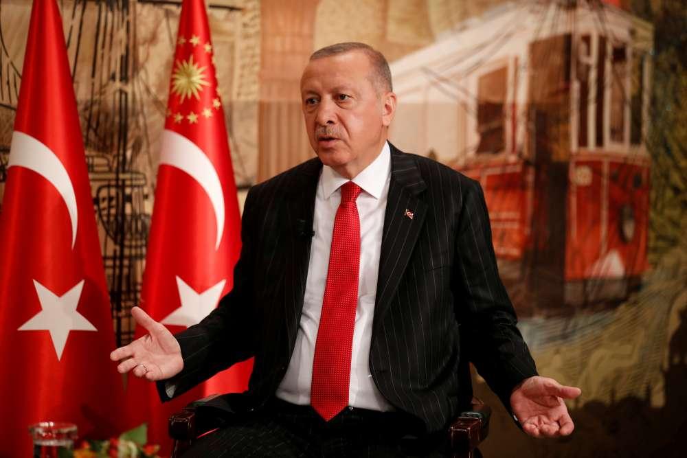 Turkey's Erdogan says to discuss with Trump buying U.S. Patriot missiles
