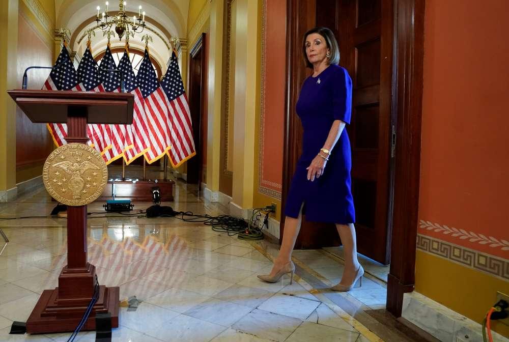 U.S. House Speaker Pelosi holds talks in Jordan with King Abdullah