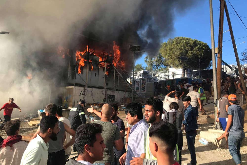 Migrants in Greece living in 'horrible' conditions