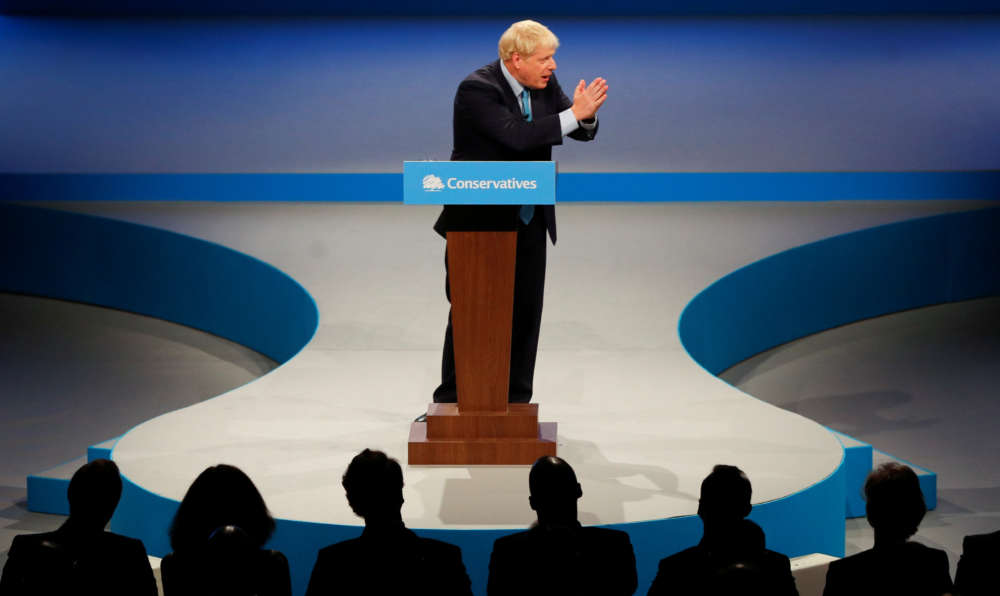 What detail did UK PM Johnson give about his grand Brexit bargain?