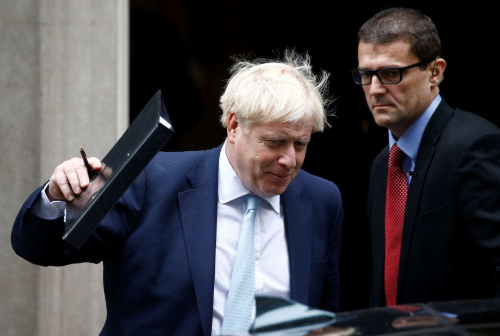 UK's Johnson raises prospect of 10 billion pound payroll tax cut