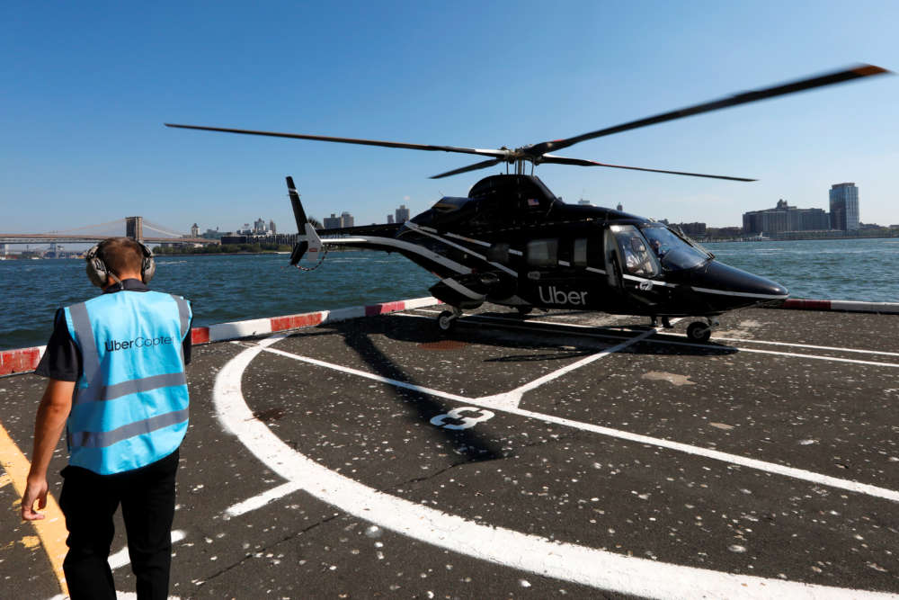Uber makes JFK airport helicopter taxis available to all users