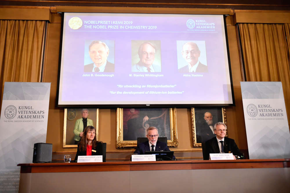 Pioneers of lithium-ion battery win 2019 Nobel chemistry prize