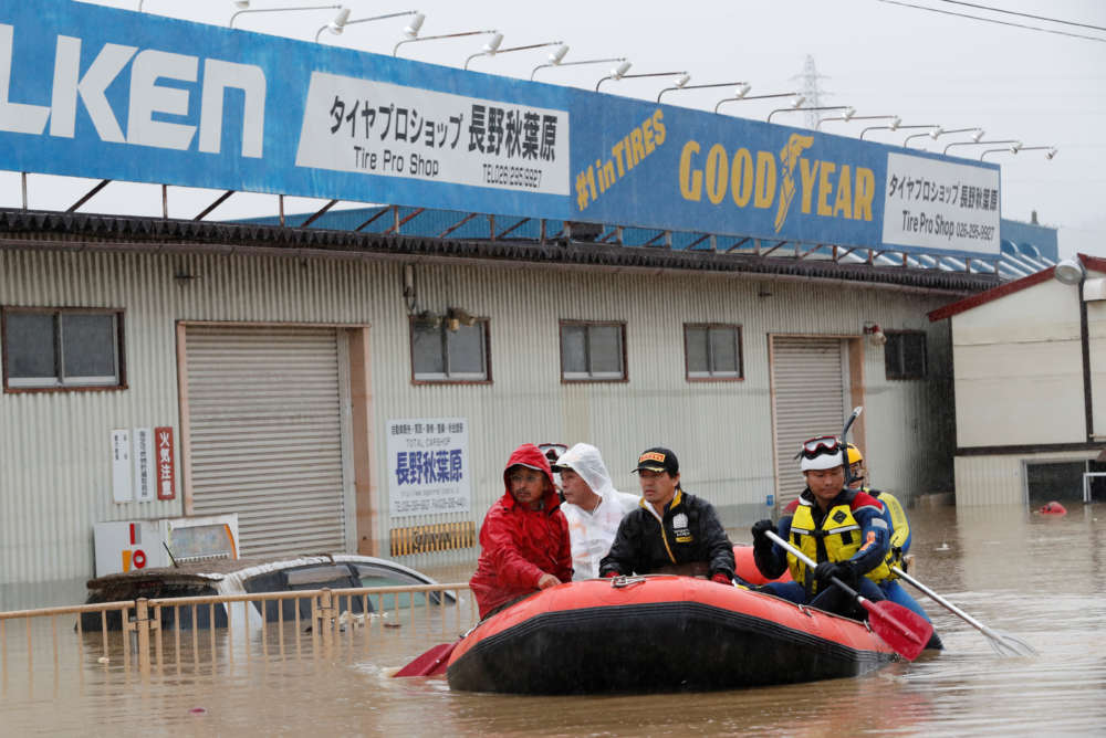 Japan typhoon death toll rises to 66 as hopes for missing fade