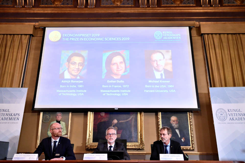 Poverty-tackling trio win Nobel economics prize