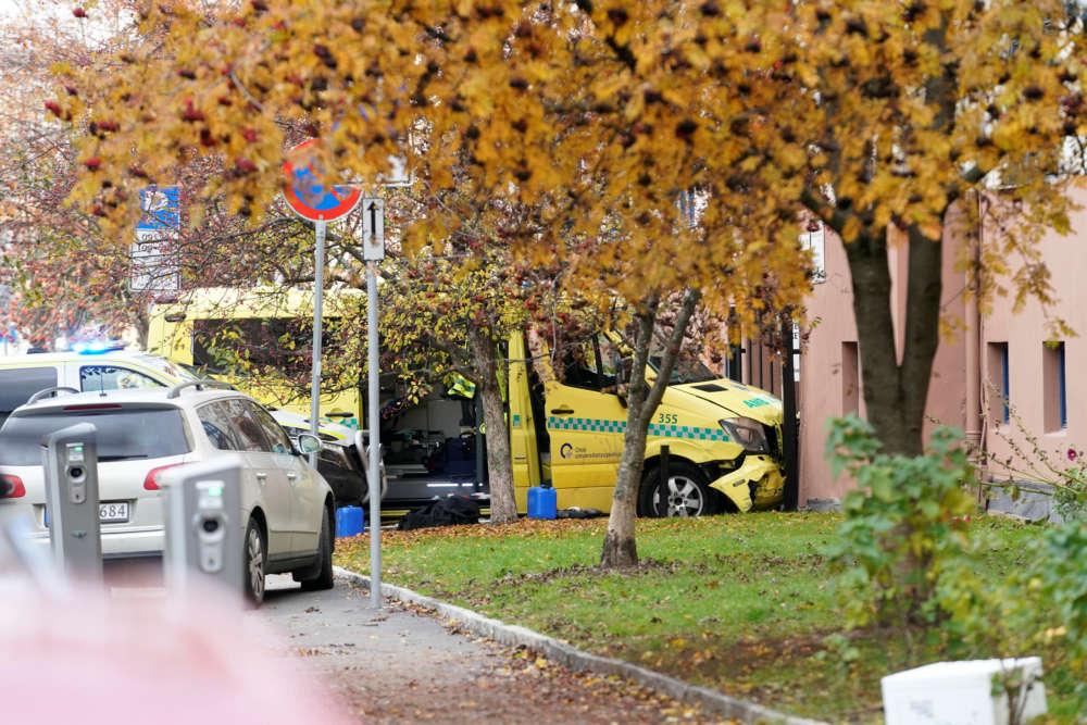 Stolen Oslo ambulance hits family