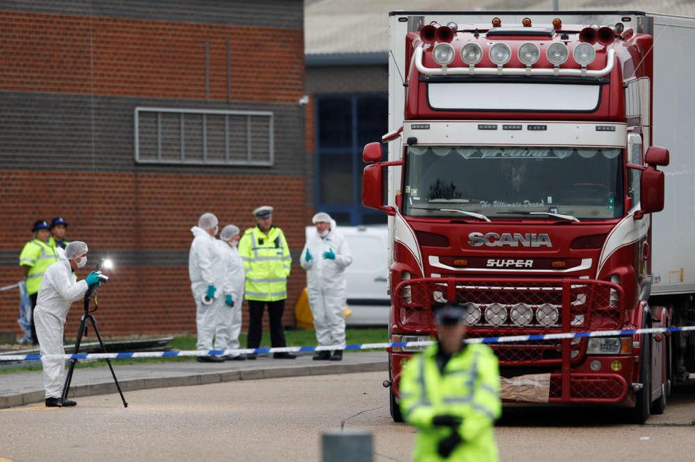 British police find 39 bodies in truck