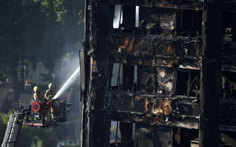 Combustible cladding on Grenfell Tower key to deadly fire - inquiry