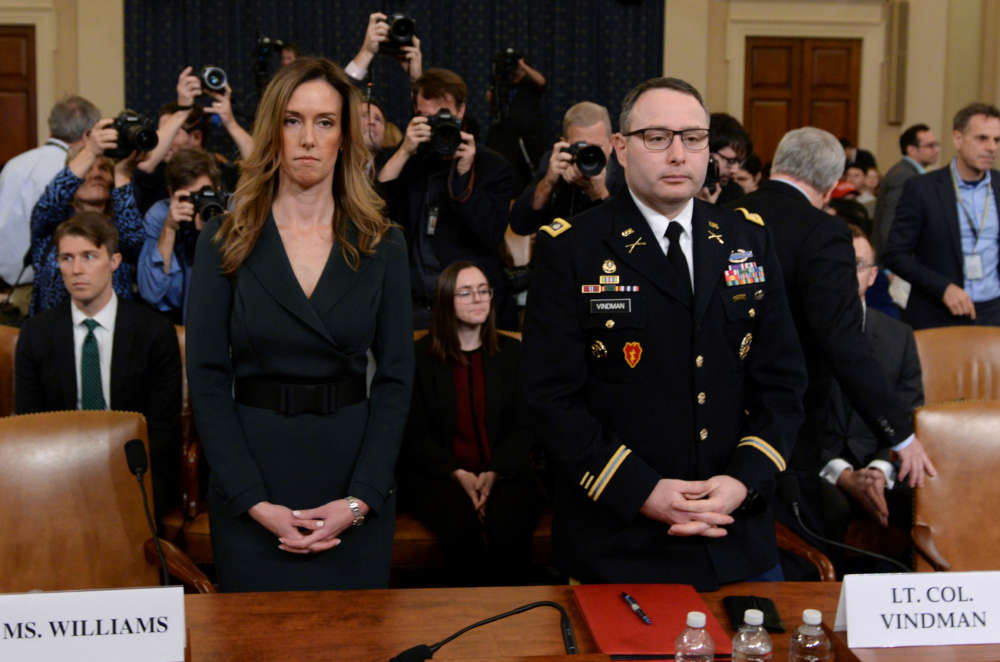 'Couldn't believe what I was hearing': White House aides testify in impeachment probe