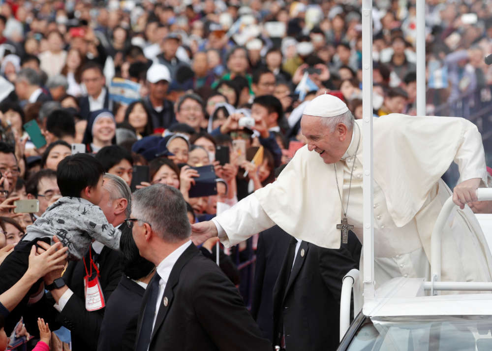 Pope calls nuclear weapons possession indefensible and perverse