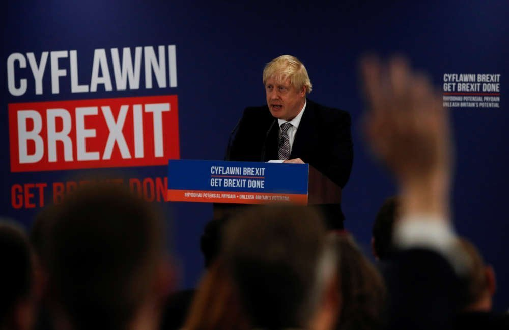 UK PM Johnson's Conservatives maintain 7-point lead over Labour
