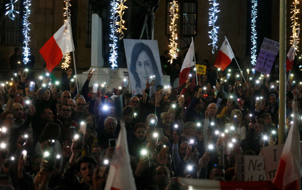 Malta's PM says will step down amid crisis over murdered journalist probe