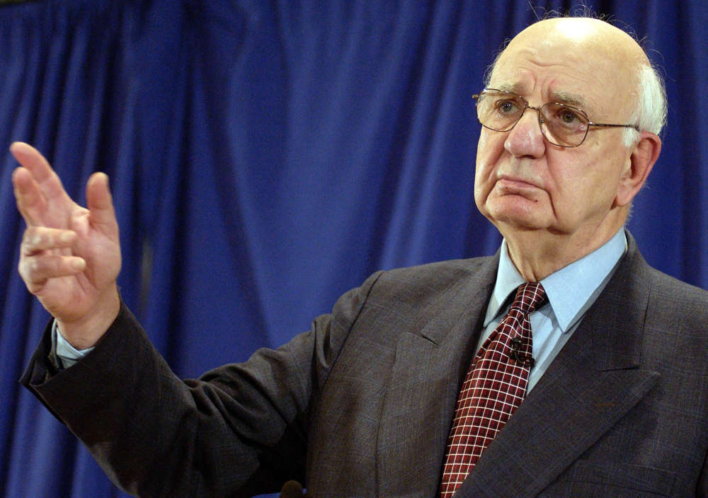 Former Fed Chief Paul Volcker