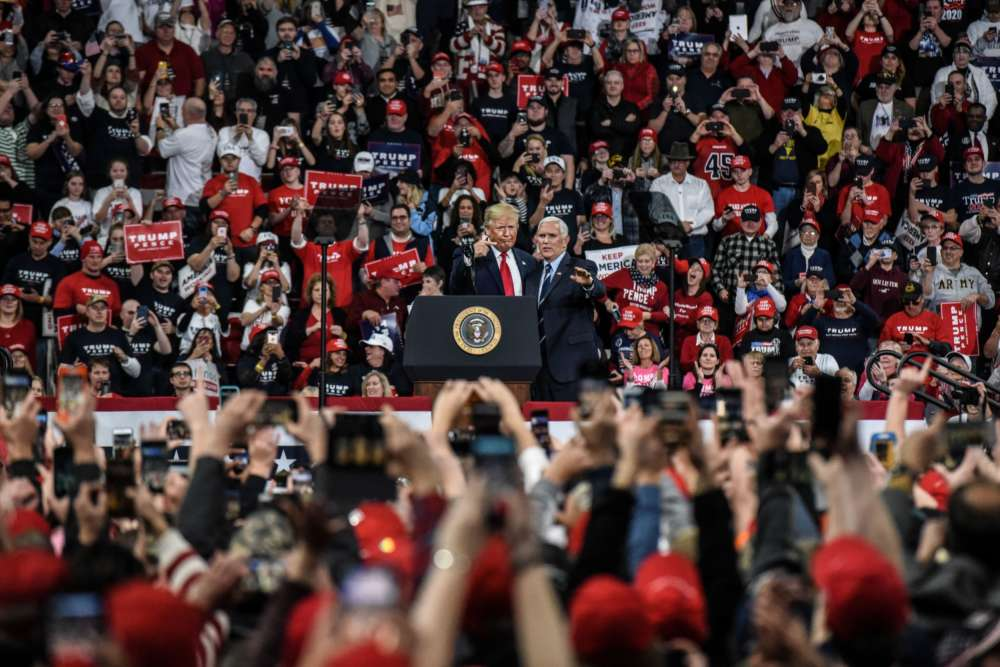 Trump rips into Democrats for coupling impeachment with trade deal at raucous rally