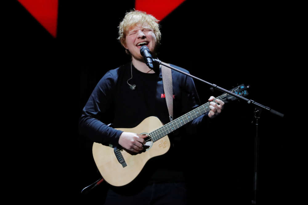 Ed Sheeran crowned number one artist of the decade