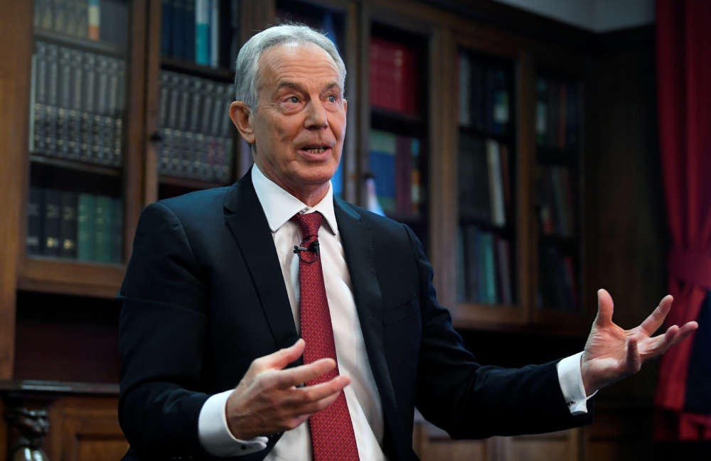 Blair tells Britain's Labour: change or face dustbin of history