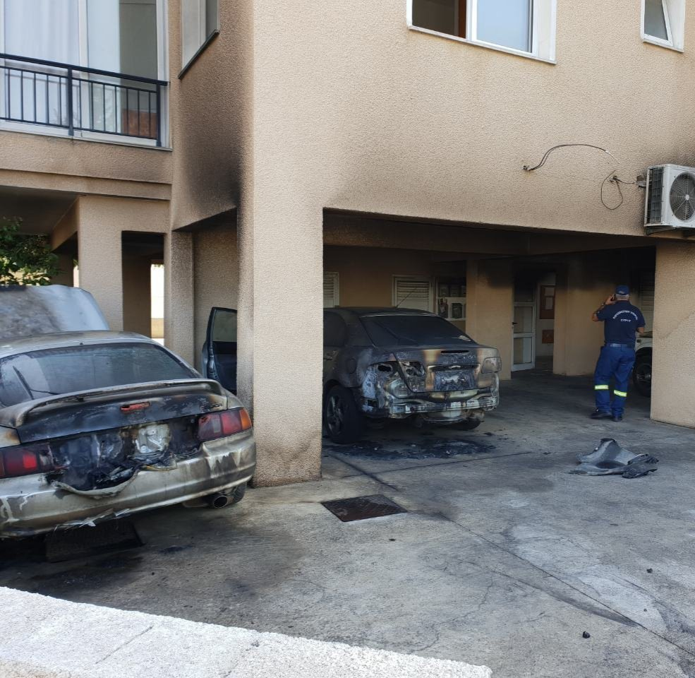 Paphos: Three cars damaged by fire