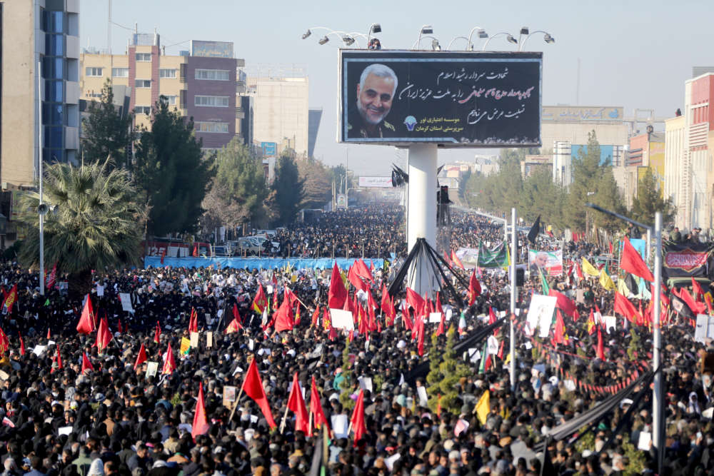 Dozens killed in stampede at Iranian commander's funeral