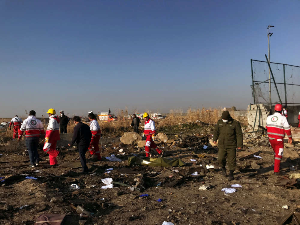 Ukrainian airliner crashes after take-off in Iran