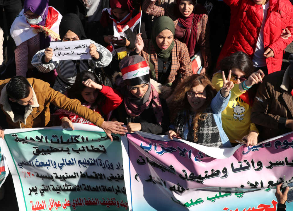 Iraq security forces clash with protesters in Baghdad and other cities