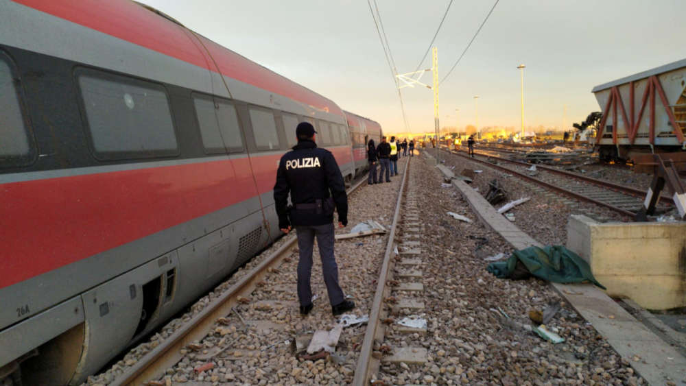 High speed train derails near Milan in Italy; two dead