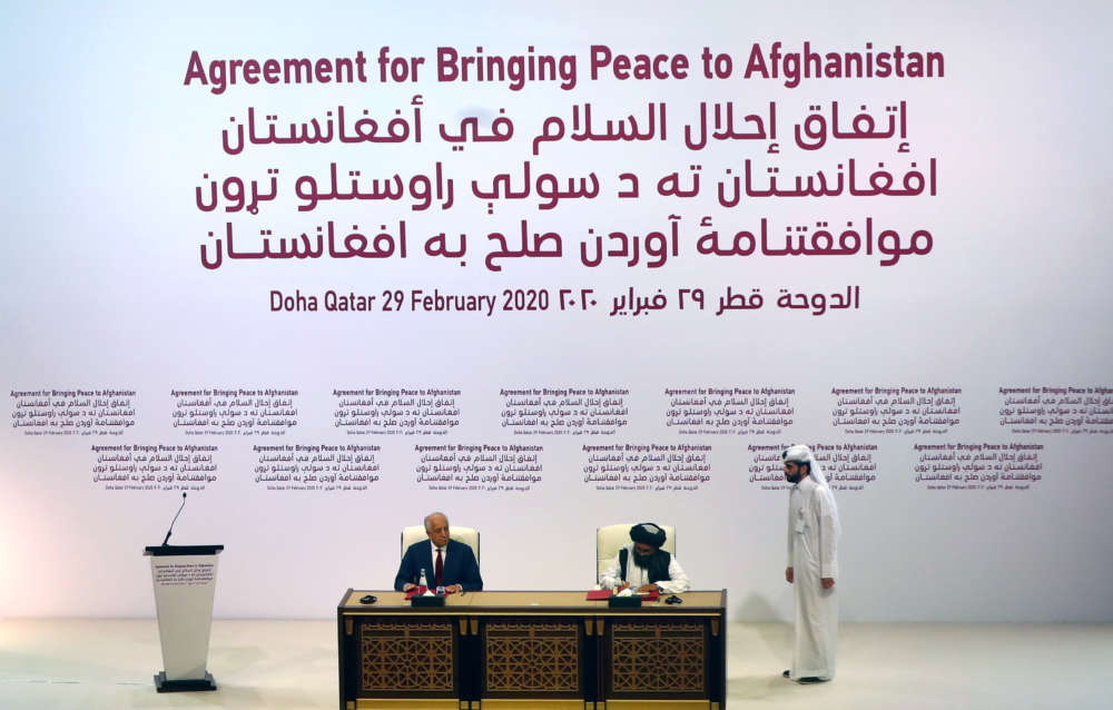 Taliban sign historic troop withdrawal deal in Doha