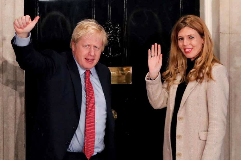British PM Johnson and his girlfriend announce they are expecting first child