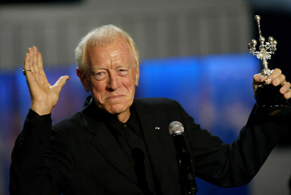 Swedish actor Max von Sydow