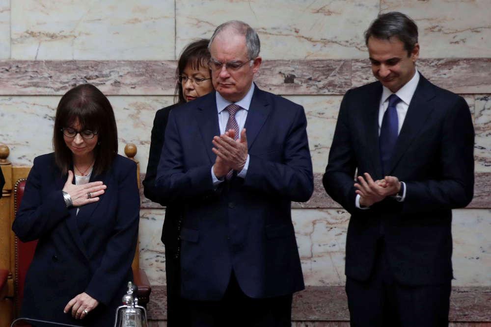 Greece swears in first female president