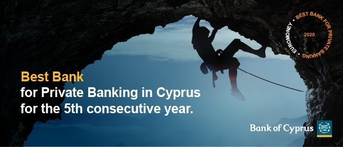 "Bank of Cyprus named ""Best Bank for Private Banking"" by Euromoney magazine"