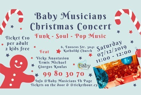 Baby musicians Christmas concert