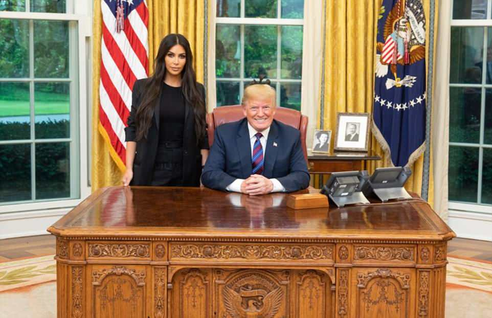 Trump shares a photo of 'great meeting' with Kim Kardashian in the Oval Office