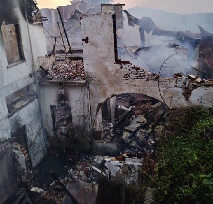 Empty Platres hotel gutted by fire