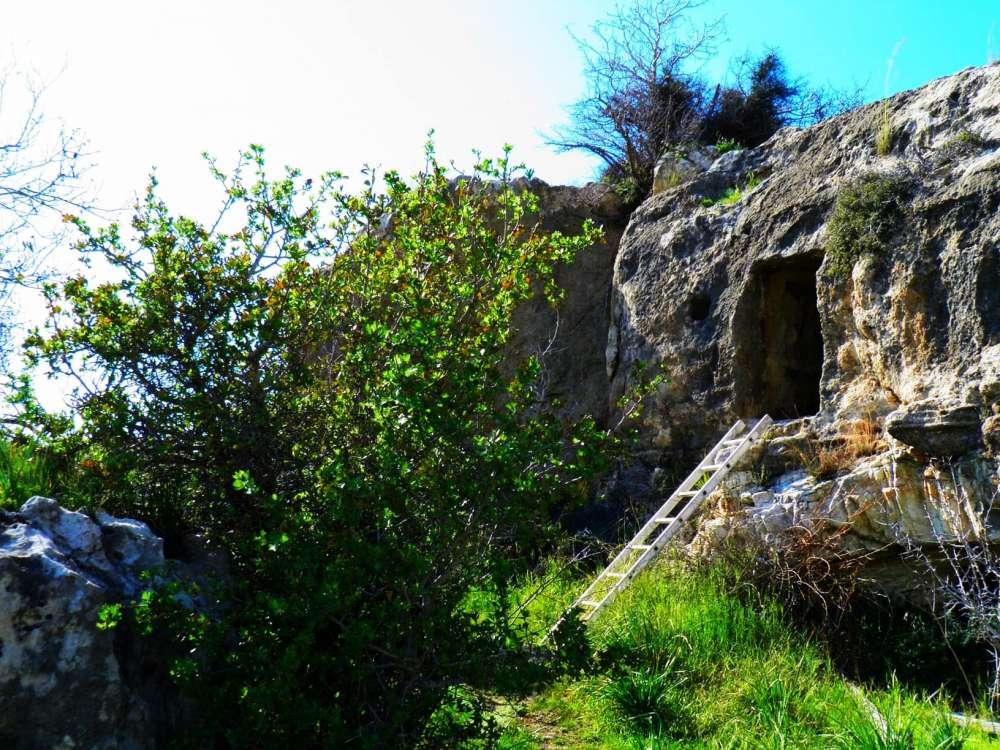 Agioi Pente (rock-cut cave)