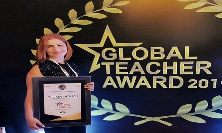 Cypriot teacher receives Global Teacher Award