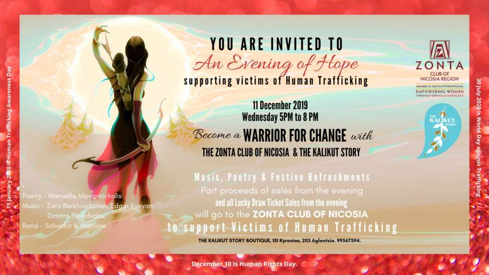 Become a Warrior for Change by supporting victims of Human Trafficking