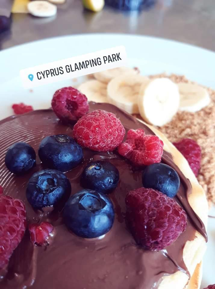 Image may contain: fruit and food, possible text that says 'CYPRUS GLAMPING PARK E'