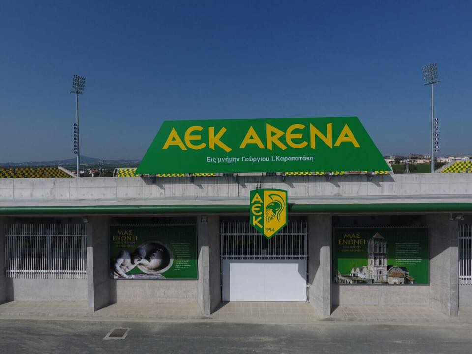 Police finds bag with grenades behind AEK Arena