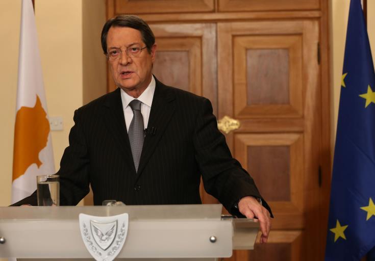 President Anastasiades lauds Cyprus' economy upgrading