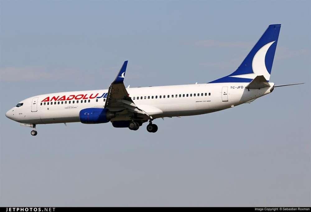 Low-flying Turkish airplane over Nicosia